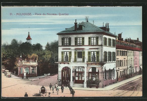 Ak mulhouse place du nouveau quartier nr 6264388 - Boutique free mulhouse ...