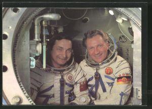 AK Gemeinsamer Kosmosflug UdSSR/ DDR, Kosmonauten Waleri Bykowski und Sigmund Jähn