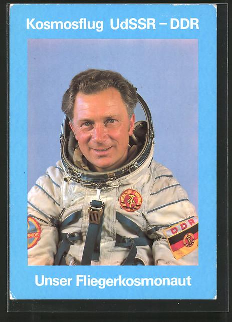 AK Kosmosflug UdSSR-DDR, Fliegerkosmonaut Siegmund Jähn