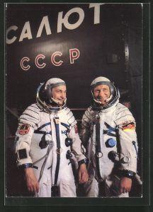 AK Kosmosflug UdSSR-DDR, Kosmonaut Jähn und Bykowski im Ausbildungszentrum