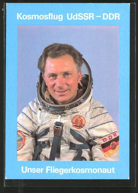 AK Kosmosflug UdSSR-DDR, Fliegerkosmonaut Sigmund Jähn
