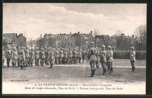 AK Douai, pendant l'occupation, Place du Barlet, deutsche Truppenparade