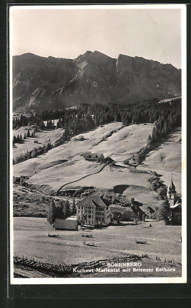 AK Sörenberg, Kurhaus Mariental mit Brienzer Rothorn