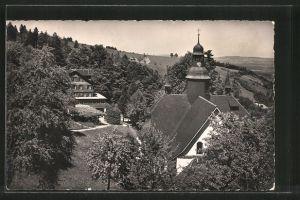 AK Hergiswald, Kurhaus mit Wallfahrtskirche