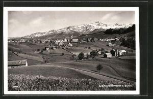 AK Schwellbrunn, Ortsansicht mit Säntis