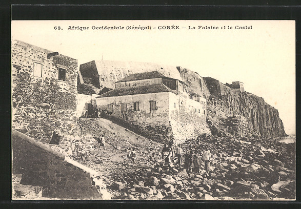 AK Ile d'Gorée, La falaise et le castel