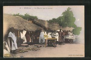 AK Senegal, un Marché dans la brousse
