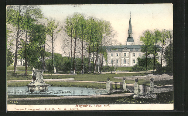 AK Haslev, Blick zum Schloss Bregentved