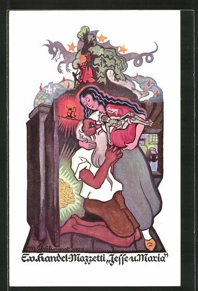 Künstler-AK Edo v. Handel-Mazzetti: Jesse und Maria