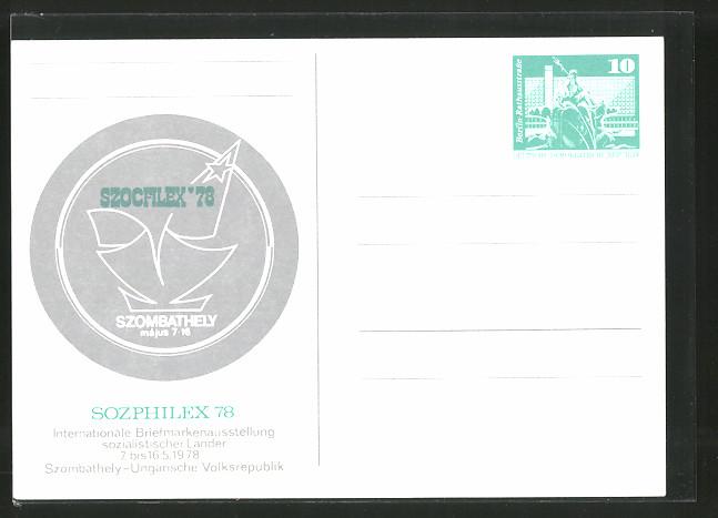 AK Szombathely, Sozphilex 78, Internationale Briefmarkenausstellung Sozialistischer Länder, Ganzsache