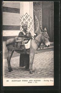 AK Egyptian Scenes and Types, Donkey Boy, Eselführer