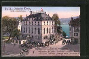 AK Erlenbach am Zürichsee, Hotel zum goldenen Kreuz