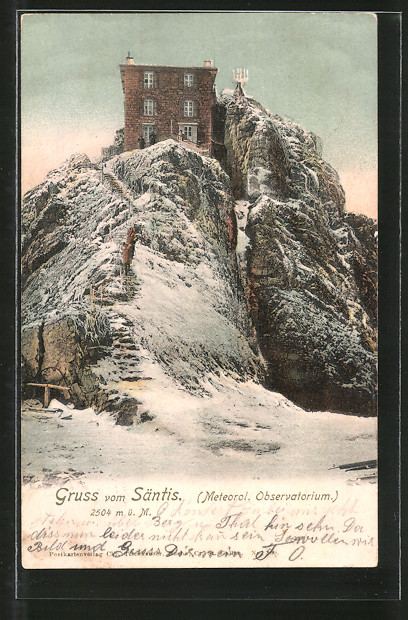 AK Säntis, Meteorolog. Observatorium im Winter