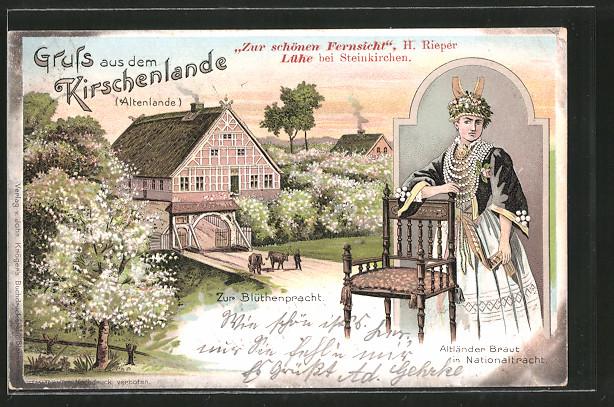 Lithographie Jork, Gasthof