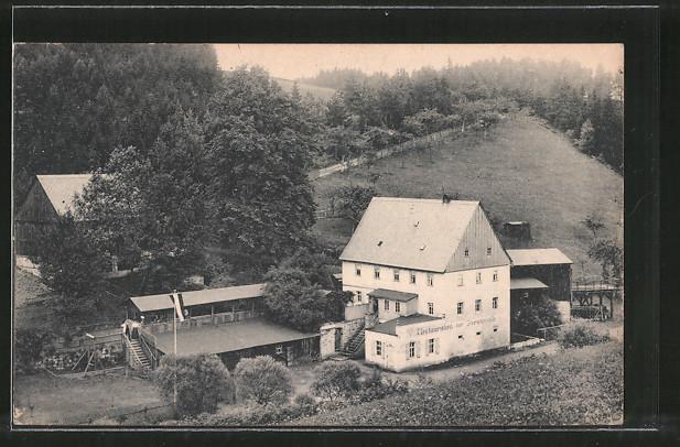 AK Bad Schandau, Gasthaus zur Forstmühle im Krippengrund