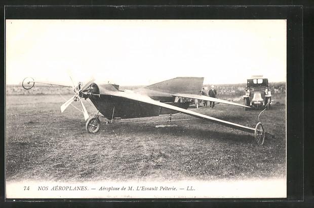 AK Flugzeug von L'Esnault Pelterie