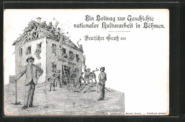 AK Ein Beitrag zur Geschichte nationaler Kulturarbeit in Böhmen, Bau einer Volksschule