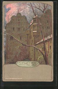 Künstler-AK Ernst Liebermann: Schloss, Aussenfassade