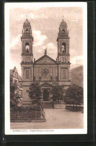 AK Eberbach, Blick auf die Katholische Kirche