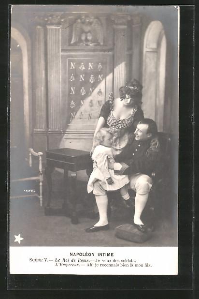 AK Napoléon intime, Napoléon et le Roi de Rome