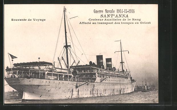 AK Guerre Naval 1914-1916, croiseur auxiliaire de 1er rang