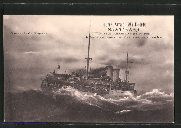 AK Guerre Navale 1914-1916, croiseur auxiliaire de 1er rang