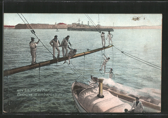 AK La vie du marin, exercice d'embarcation