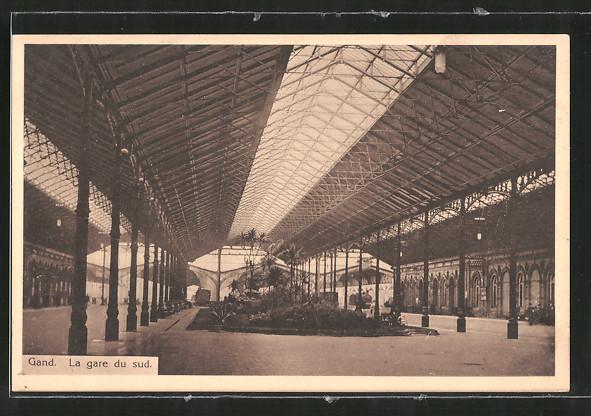 AK Gand, La gare du sud, intérieur, Bahnhof Nr. 7080099 - oldthing ...