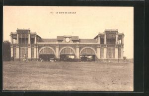 AK Dakar, La gare, Blick zum Bahnhof