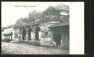 AK Colombo, Hindoo Temple, partial View
