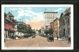 AK Raleigh, NC, Fayetteville Street Looking North from Davie St.
