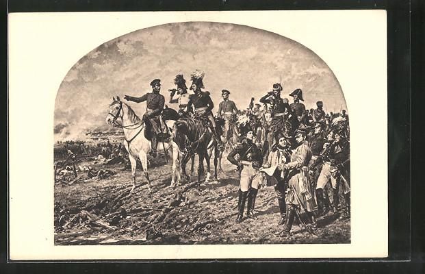 Künstler-AK Leipzig, Heerführer in der Völkerschlacht 1813, Befreiungskriege