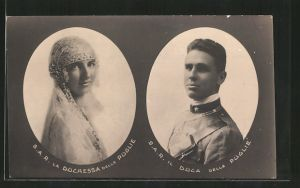 AK La Duchessa delle Puglie, Il Duca delle Puglie, Italienisches Adelspaar