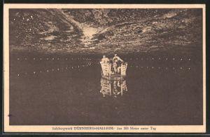 AK Dürnberg-Hallein, Salzbergwerk, See 300 Meter unter Tag