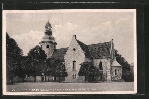 AK Zeven, St. Viti-Kirche, erbaut 1140