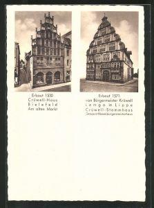 AK Bielefeld, Crüwell-Haus am alten Markt, Crüwell-Stammhaus (Hexenbürgermeisterhaus)