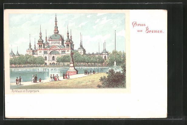 Lithographie Bremen, Parkhaus im Bürgerpark