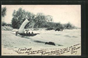 AK Colombo, Mount Lavinia Hotel, Boat at Sea Shore