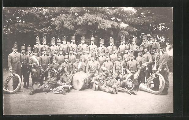 Foto-AK Marschkapelle in Uniform der Befreiungskriege