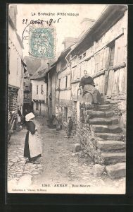 AK Auray, Rue Neuve, Strassenpartie