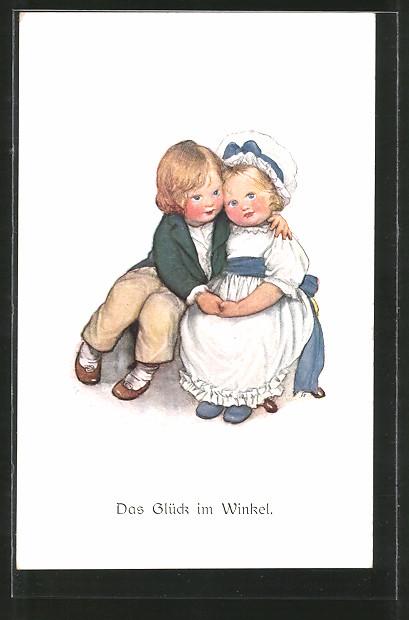 Künstler-AK Susan Beatrice Pearse: Das Glück im Winkel, Kleines Paar