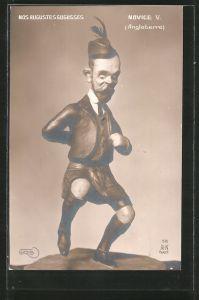 AK Karikatur, König Georg V. von England