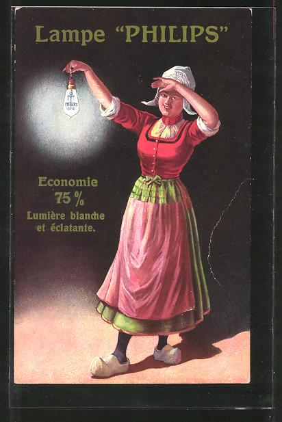 AK Reklame Lampe