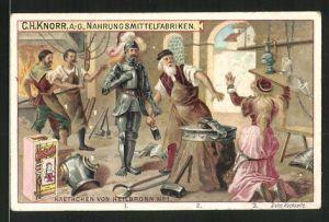 Sammelbild Heilbronn, Knorr AG, Kaethchen von Heilbronn No. 1, Mädchen kniet vor Ritter nieder