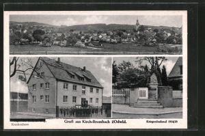 AK Kirch-Brombach, Krankenhaus, Kriegerdenkmal 1914/18, Gesamtansicht