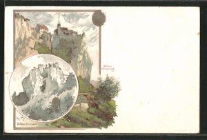 Künstler-AK Karl Mutter: Beuron, Schloss Beuron & Schloss Werenwag