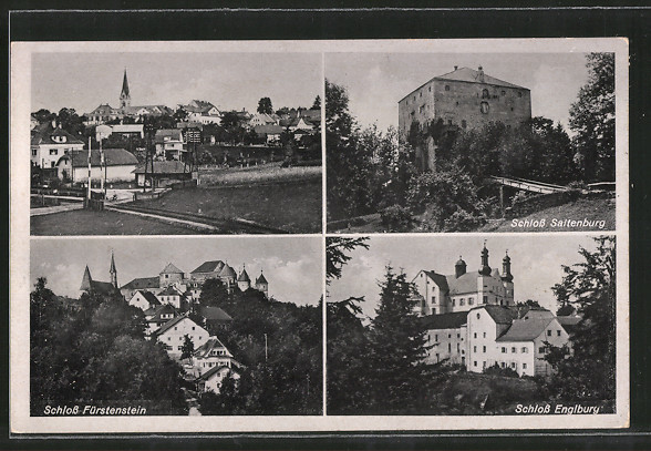 AK Fürstenstein, Schloss Saltenburg, Schloss Fürstenstein, Schloss Engelburg