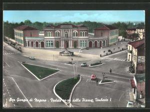AK San Giorgio di Nogaro, Veduta aera della Piazza Umberto I.