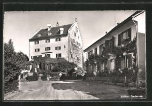 AK Greifensee, Strassenpartie mit Schloss Greifensee