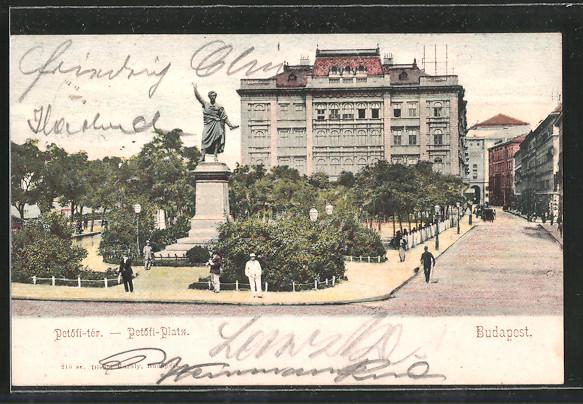 AK Budapest, Petöfi-tér - Petöfi Platz